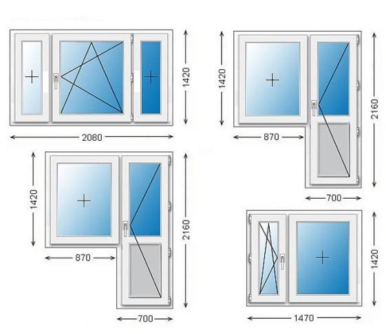 стандартные размеры оконных и дверных проемов ширина и
