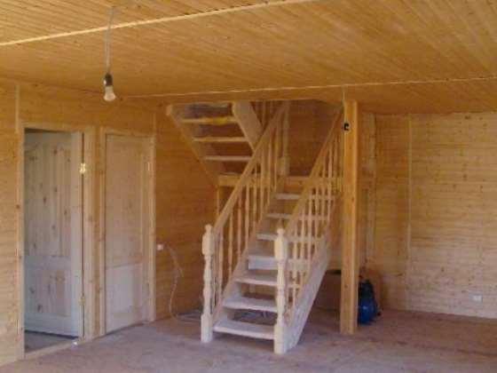 Сделать деревянную лестницу на 2 этаж своими руками