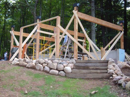 Как построить щитовую баню на даче своими руками