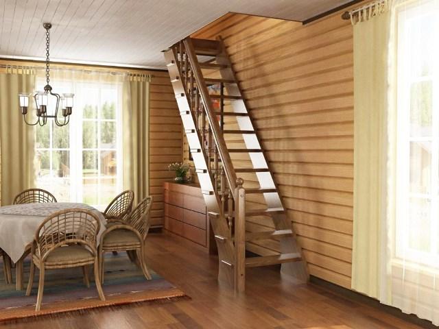 Лестницы на второй этаж из дерева для дачи своими руками фото 559