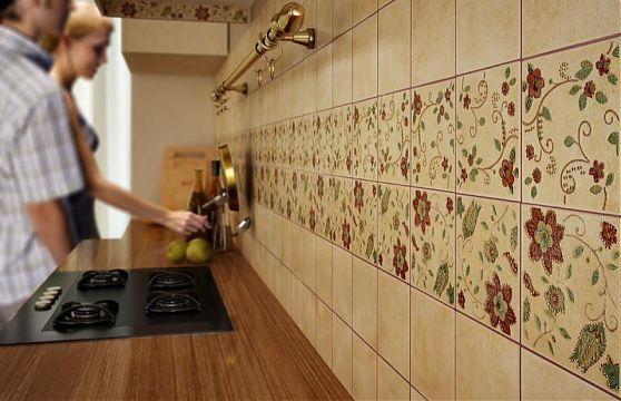 Фартук на белую кухню из плитки дизайн