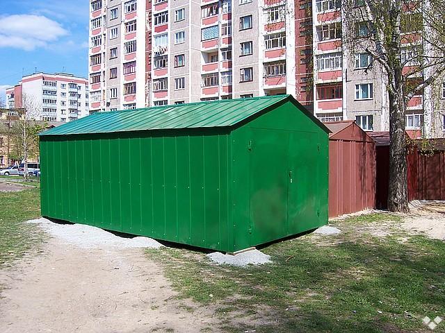 Установка металлического гаража