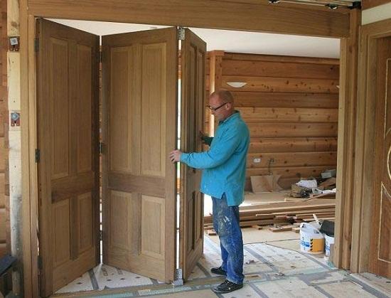 Установить складную дверь своими руками 193