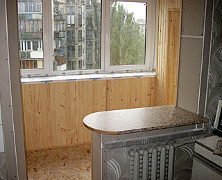 Перепланировка балкона в кухню фото..