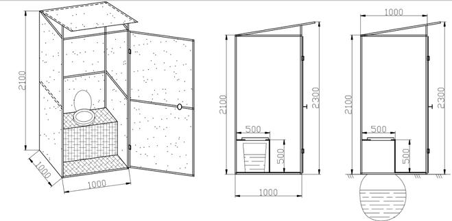 Как построить туалет своими руками чертежи и фото