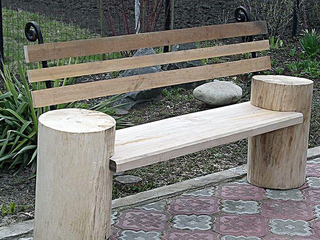 Деревянная скамейка со спинкой своими руками видео