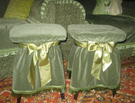 Чехлы на табуретки из ткани