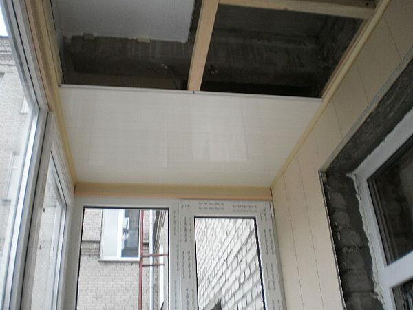 Монтаж потолка на балконе своими руками видео