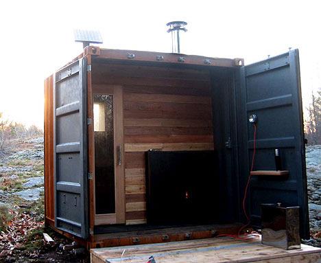 Построить баню из контейнера фото