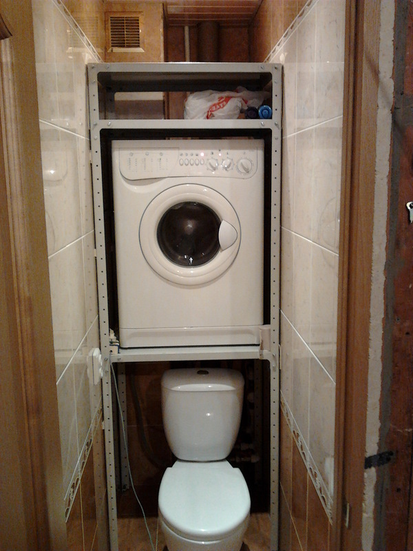 Как сделать стиральную машину в туалете