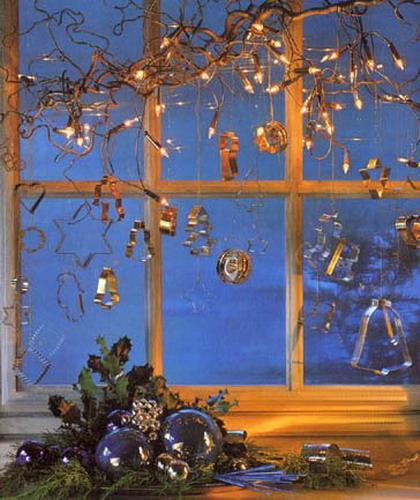 Украсить окна к новому году своими руками
