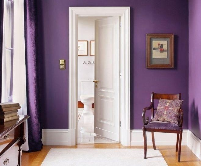Шторы к фиолетовым обоям