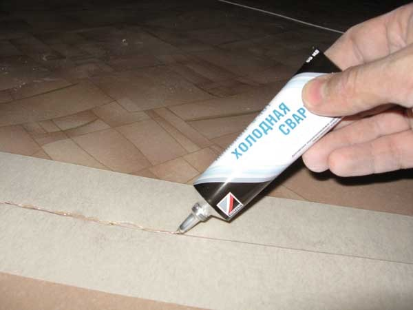 Герметизация швов плитки пвх